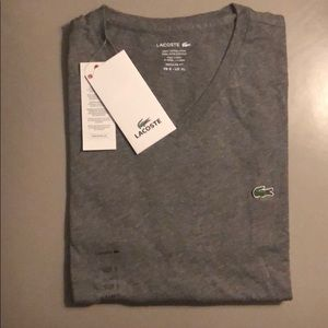Lacoste Mens V Neck Short Sleeve Shirt NWT